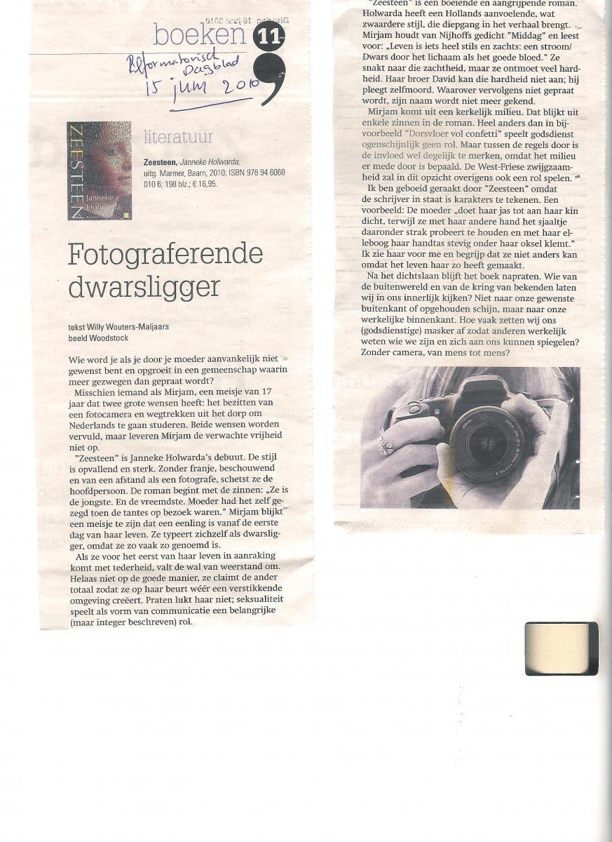 Recensie Zeesteen Reformatorisch Dagblad 001